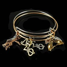 647cea2f8 Drop shipping DST letter pinky charm bangle for sister gift Jewelry Delta  Sigma Theta Sorority Charm Bangle