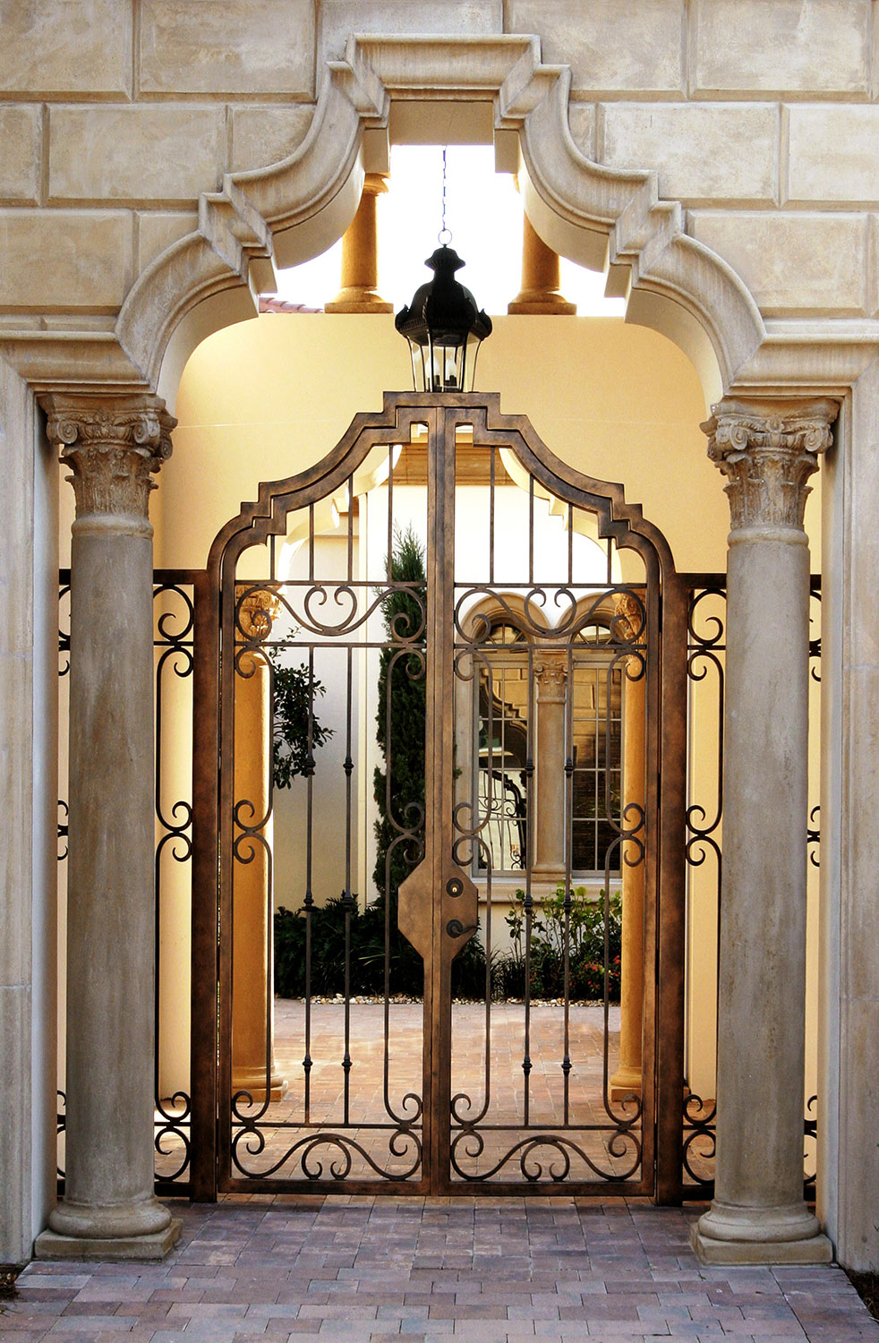 Handmade Top Villa Wrought Iron Gate One Stop Shipping To USA Hench-lg24