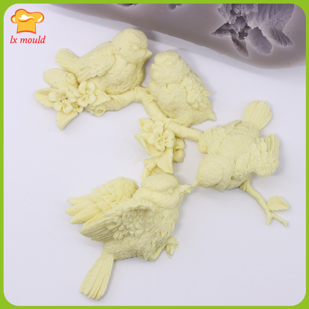Uccello lingua floreale stampo in silicone morbido della caramella secco pais decorazione della tortaUccello lingua floreale stampo in silicone morbido della caramella secco pais decorazione della torta