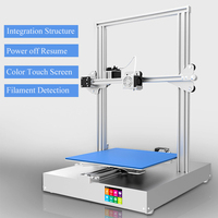 Newsest AM 300 3D Printer Touch Screen Power off Resume Large Metal Frame Wifi connection impressora 3d kit completo 3D Printer