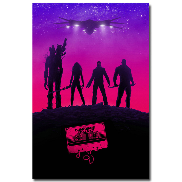 Guardians of the Galaxy Art Silk Fabric Poster Print Movie Wall Pictures Living Room Decor Home Decoration