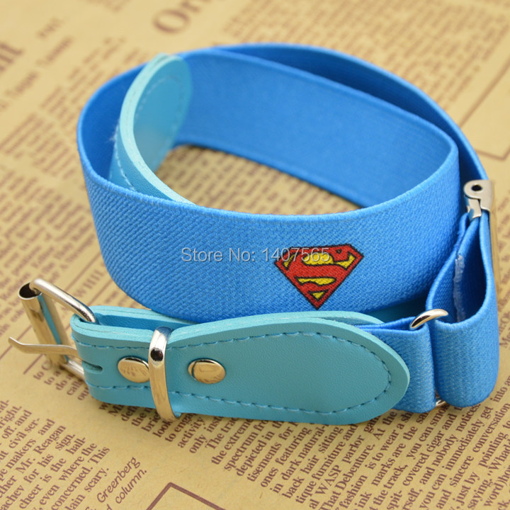 2014 Fashion Superman Quality Elastic Waist Belt Blue For Baby /kids/children/boys/girls And Belts Girl Apparel Accessories