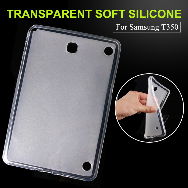 Silicone Sofe TPU Cover Skin case For Samsung Galaxy Tab A 8.0 inch Tablet SM T350 T355 350 Tablet PC dormancy Free Shipping x line tpu case gel silicone tablet case skin rubber cover pouch sleeve bag for sony xperia z3 8 0 tablet compact sgp621 sgp641