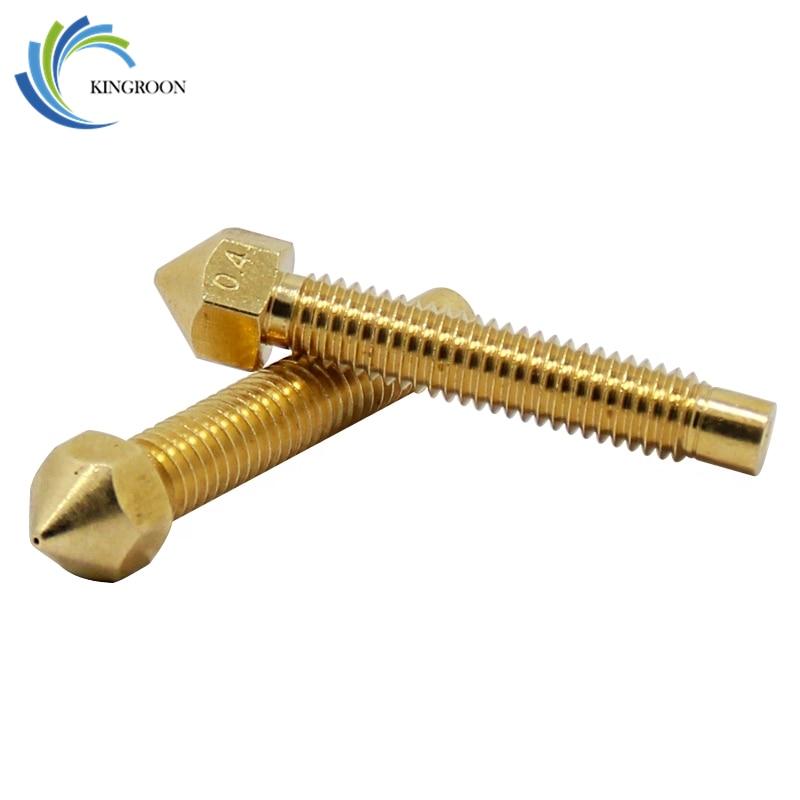 KINGROON Lengthen Copper Nozzle 0.4mm M6*32 mm Thread Part For 1.75mm 3.0mm Filament Print Head Longer 3D Printers Parts BrassKINGROON Lengthen Copper Nozzle 0.4mm M6*32 mm Thread Part For 1.75mm 3.0mm Filament Print Head Longer 3D Printers Parts Brass