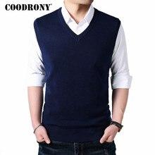 COODRONY, классический жилет без рукавов с v-образным вырезом, мужской кашемировый шерстяной свитер, Мужская одежда,, Осень-зима, деловой стиль, Повседневный, для мужчин, 8145