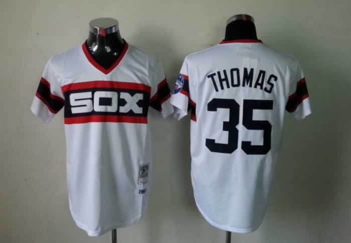 half off 79dd0 496a7 Lower Price Mens Chicago White Sox Jerseys #35 Frank Thomas ...