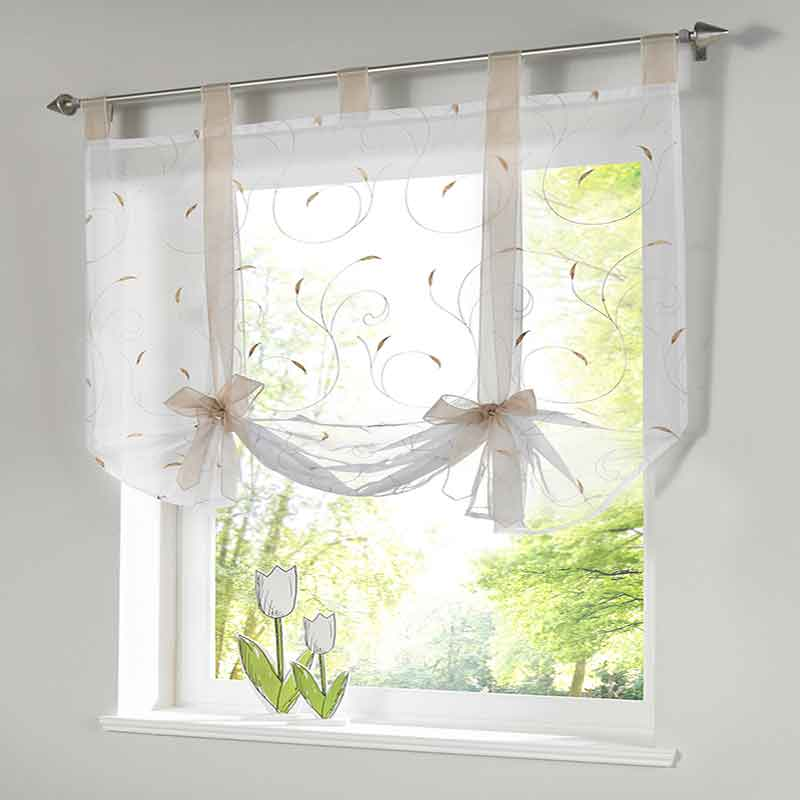 European Ribbon Roman Curtain Home Wave Blinds Stitching Colors Ling Room Balcony Short Curtains Multi-size 2019 New