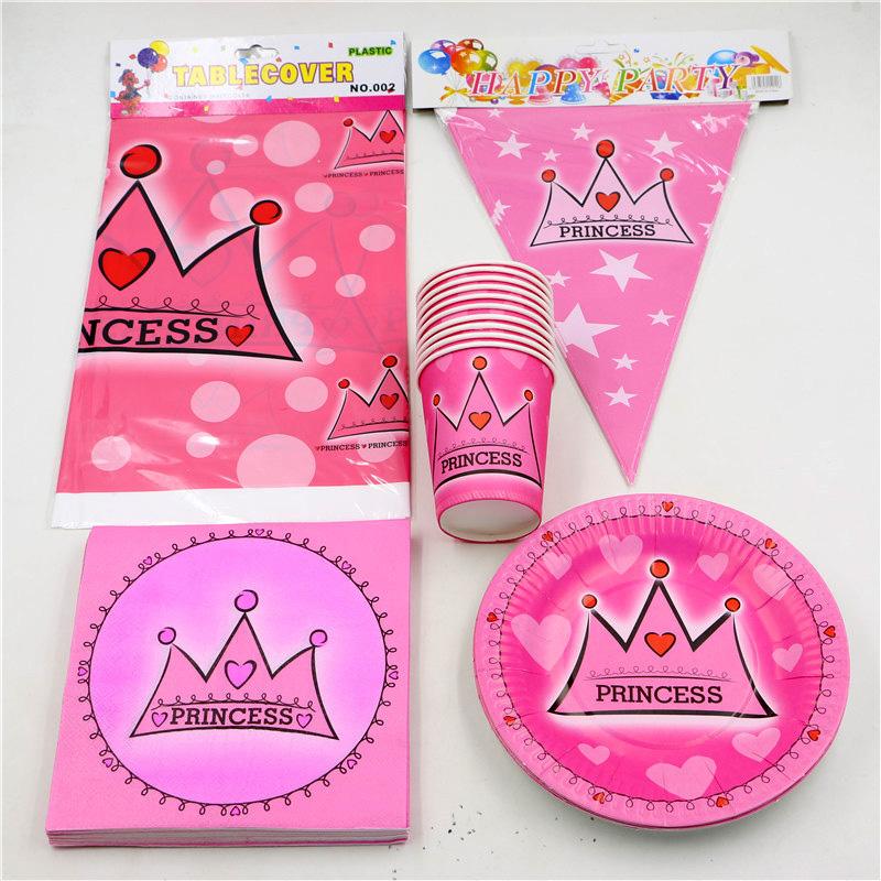 unidslote princess crown baby shower mantel fiesta de cumpleaos favores nios