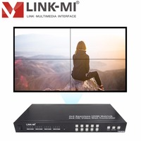 LINK MI TVM44 Seamless Switch 4x4 HDMI Matrix Create 2X2 Multi View Video Wall Controller controlled by remote button and RS232
