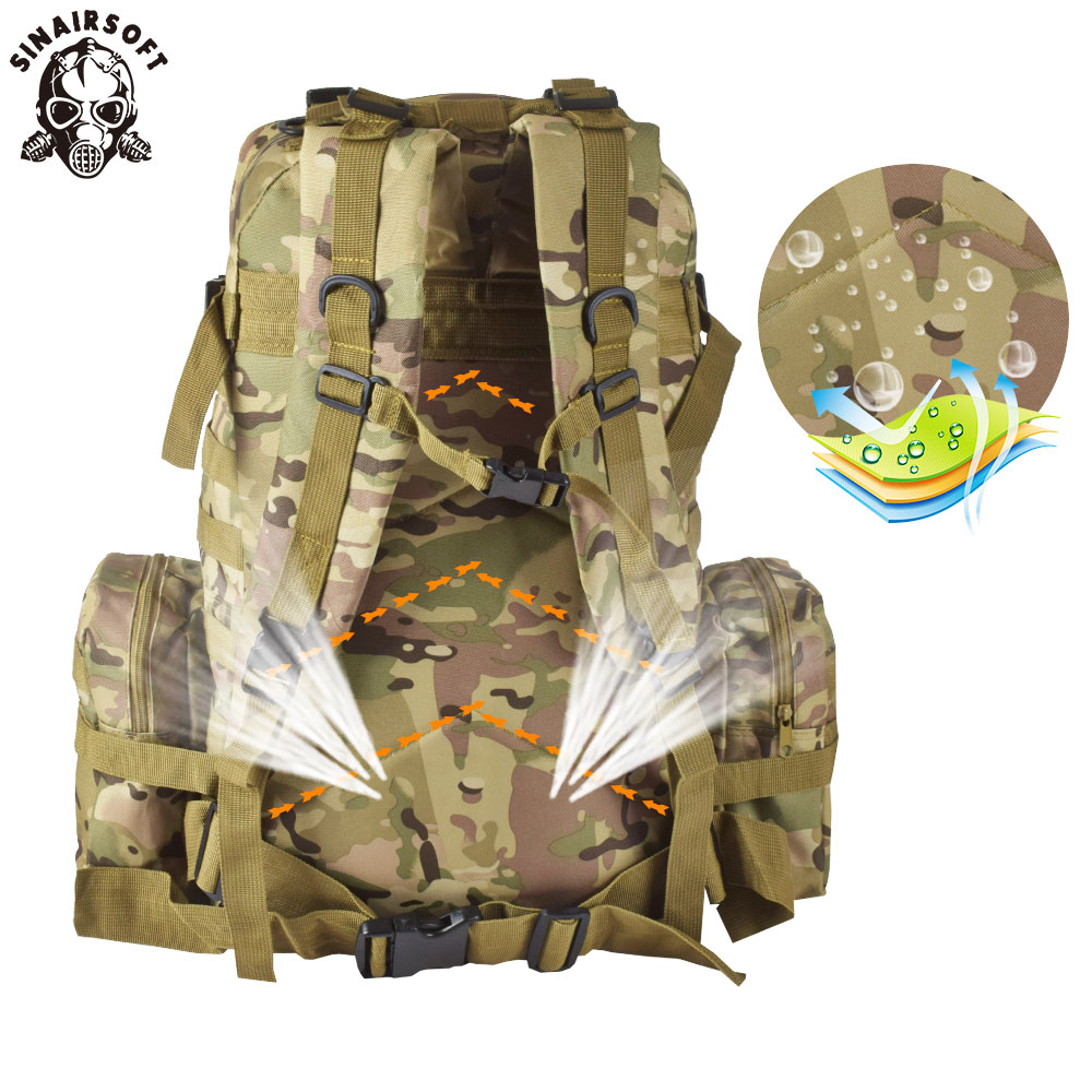 9 Warna Warna! Baru 50L Molle Tactical Backpack Assault Outdoor - Beg sukan - Foto 6