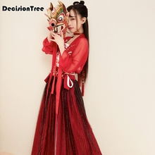 2019 chinese ancient costumes princess clothes fairy womens clothing tang dynasty female hi q hanfu women costume