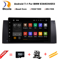 Android 7.1 Quad Core GPS Navi 9 Inch Full Touch auto DVD Multimedia voor BMW E53 X5/E39 5/M5 97-06 met BT/RDS/Radio/Canbus/WIFI