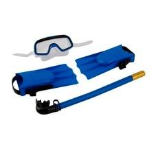 1 Set Snorkeling Diving Mask Breathing Tube Long Fins Foot Flippers 3Pcs Snorkels Set Swimming Pool Training Equipment New стоимость