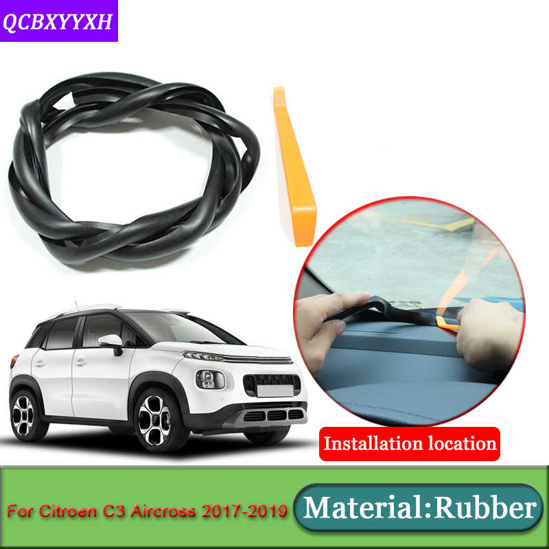 Car-styling For Citroen C3 Aircross 2017-2019 Anti-Noise Soundproof  Dustproof Car Dashboard Windshield Sealing Strip Accessories