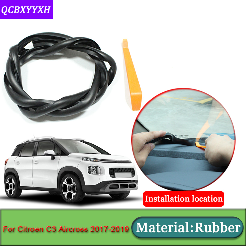 Car styling For Citroen C3 Aircross 2017 2019 Anti Noise Soundproof Dustproof Car Dashboard Windshield Sealing Strip Accessories|Sound & Heat Insulation Cotton| |  - title=