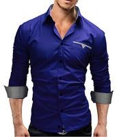 2017 Autumn New Fashion Camisa Brand Clothing Men Shirt Casual Long Sleeved Chemise Homme Slim Camisas