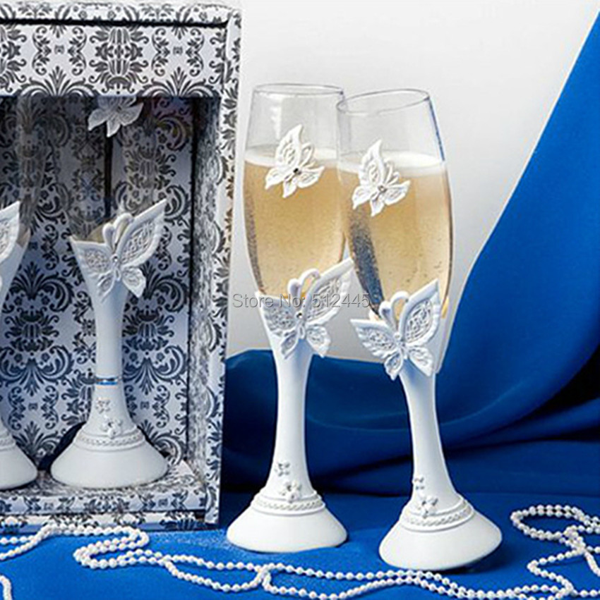 Wedding Gift Ideas For Couples Over 50 : Design wedding wine glass Champagne Cup Couple Goblet set wedding gift ...