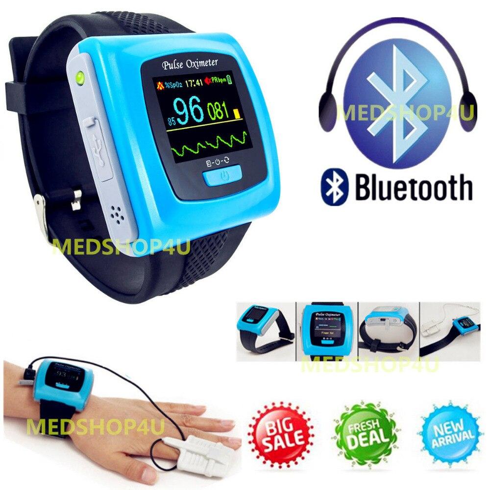 Pulso Oxímetro de pulso CMS50FW Spo2 PR Monitor de Sono Durante A Noite oximetros Bluetooth Wearable oxímetro de pulso saturometro/saturometre