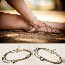 1Pc Vintage Beach Yoga Bohemian Cord Ankle Bracelet Foot Chain Anklet Jewelry