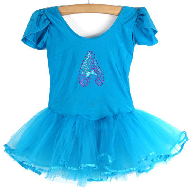 6de2e71fa57a Cute Toddler Baby Girls Short Sleeve Ballet Tutu Dress Dancing ...