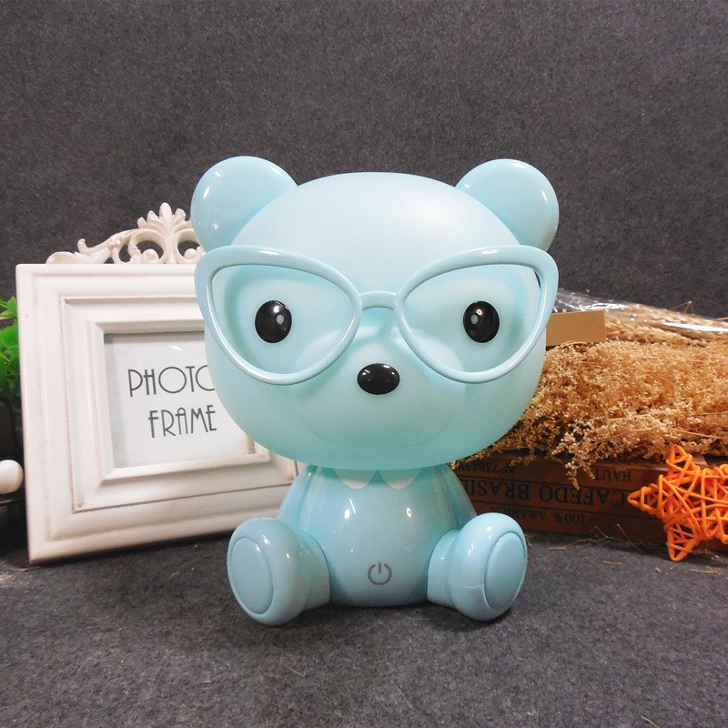 Cartoon Touch Night Light Energy Saving LED Eye Protection Learning Desk Lamp Cartoon Rabbit Christmas Usb Gift Unicorn Light