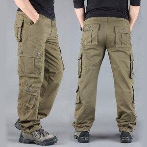 Image 5 - 2020 primavera Mens Cargo Pantaloni Kaki Militare Degli Uomini di Pantaloni Casual Cotone Pantaloni Tattici Degli Uomini di Grande Formato Army Pantalon Militaire Homme