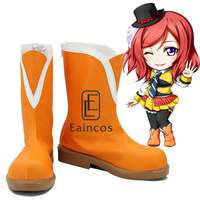 Anime LoveLive School Idol Project Sunny Day Song Nishikino Maki Shoes Cosplay Christmas Party Boots Custom