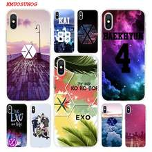 Transparent Weichen Silikon Telefon Fall POP EXO baekhyun für iPhone XS X XR Max 8 7 6 6S Plus 5 5S SE Telefon Tasche(China)