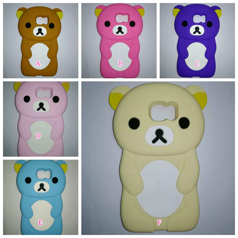 official photos 45ab1 d8e8d US $172.0 |3D Bear Rilakkuma Relax Soft Silicone Case For Samsung Galaxy S7  G9300 G930/ S7 Edge G935 Cute Lovely Rubber Cover Skin 100PCS-in ...