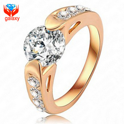 yinhed new trendy gold color fashion jewelry engagement