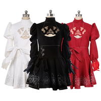 Games No. 2 Type B 2B Cosplay Costumes Asian Size S XXL See Through Feather Sleeve Skirt Battleframe White Dress
