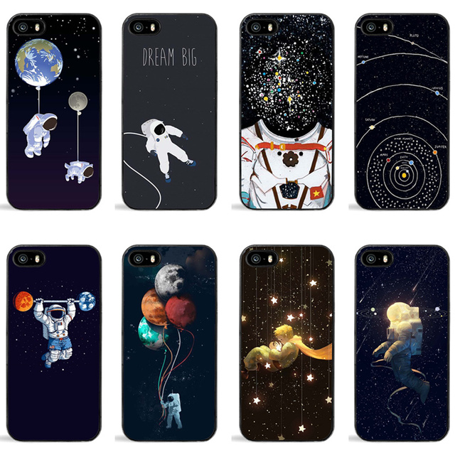 new product 8552e 6fd13 US $1.99 |Luxury Space Starry Sky Star Case For iPhone X Cases Cartoon  Astronaut Moon Phone Back Cover Capa For iPhone 5S 6S 7 7Plus 8 8P-in ...