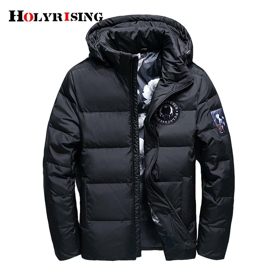 Holyrising jaqueta masculina 남성 다운 재킷 남성 후드 코트 casaco masculino inverno 남성 겨울 얇은 오리 down18381-에서다운 재킷부터 남성 의류 의  그룹 2
