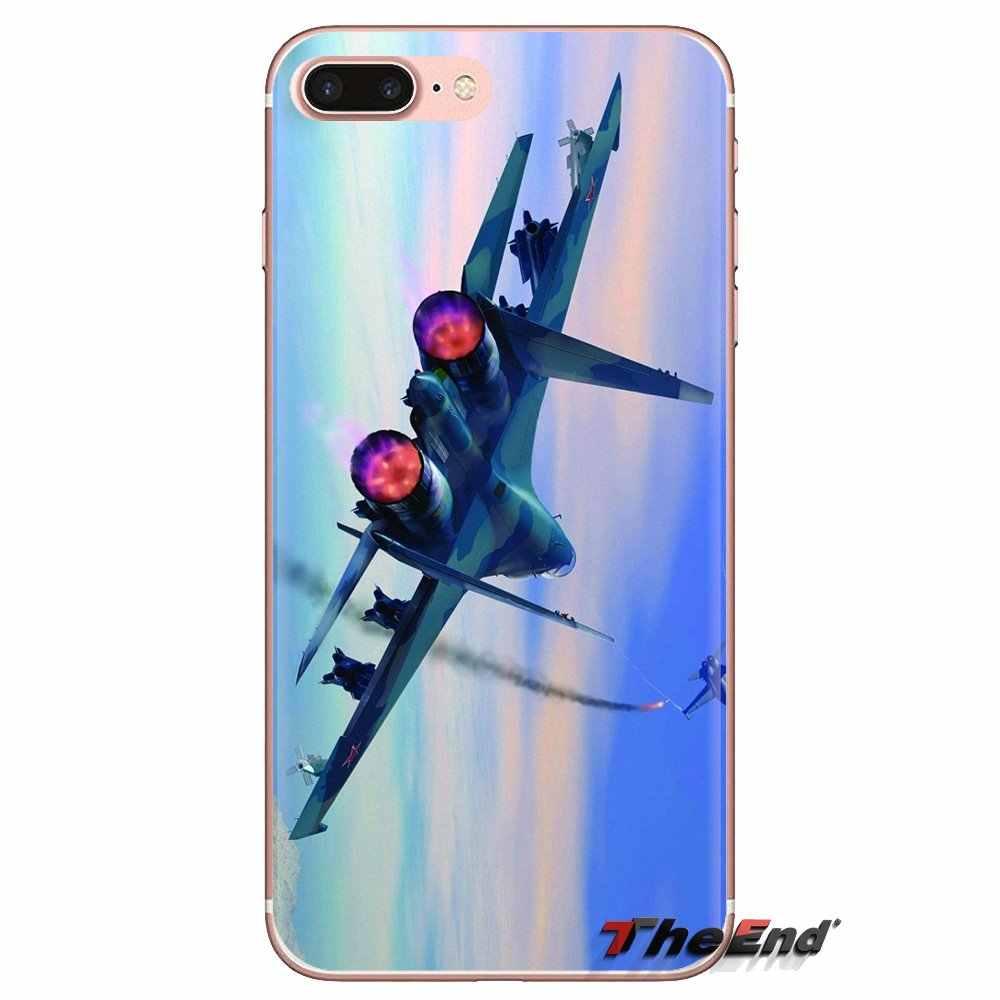 ロシアスホーイ 27 航空機透明ソフトシェルは Xiaomi Redmi 4A S2 注 3 3 S 4 4 × 5 プラス 6 7 6A プロ Pocophone F1