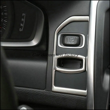Car styling decoración dispositivo De Encendido del panel interior Del Coche de la tira de acero Inoxidable Clave agujero lentejuelas recorte 3D pegatina para volvo xc60