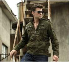 2014 men winter hooded velvet jacket man casual multi-pocket mlitary tooling cotton coat outwear roupas masculinas S797