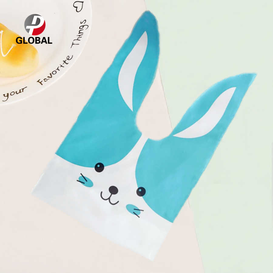 D&P 10/30pcs 13.5*22 cm Gift Bag Cute Rabbit Ear Cookie Bag   For Candy Biscuits Snack Baking Package Wedding Favors Gifts