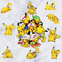 Pokemon Pikachu Wall Sticker Mural Pokeball Decals Decor Free Shipping d082