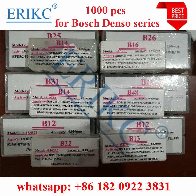 ERIKC 1000pcs Gaskets CR Injector Shims B11,B12,B13,B14,B16,B22,B25,B26,B31,B48,B21,B23,B24,B27 Adjust Nozzle Washers for BOSCHERIKC 1000pcs Gaskets CR Injector Shims B11,B12,B13,B14,B16,B22,B25,B26,B31,B48,B21,B23,B24,B27 Adjust Nozzle Washers for BOSCH