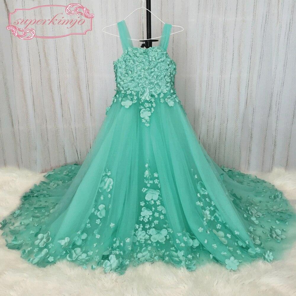 Superkimjo vestidos de primera comunion floral verde barato Vestidos ...