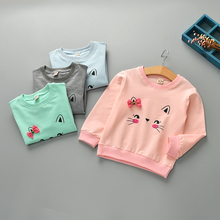 Fashionable children's clothing sweater hedging girl's clothes 2018 Spring new children's cotton cute children's clothing