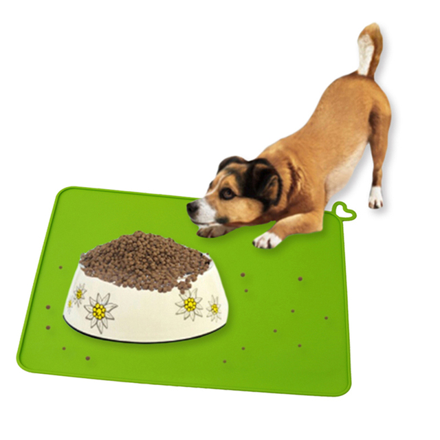 Clean Pet Supplies Pet Dog Puppy Cat Feeding Mat Pad Cute Silicone Bed Dish Bowl Food Water Feed Placemat