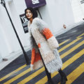 SJ1021 New Arrival Fashion Girl Fur Coats Vogue Magazine Fashion Real Fur Overcoats