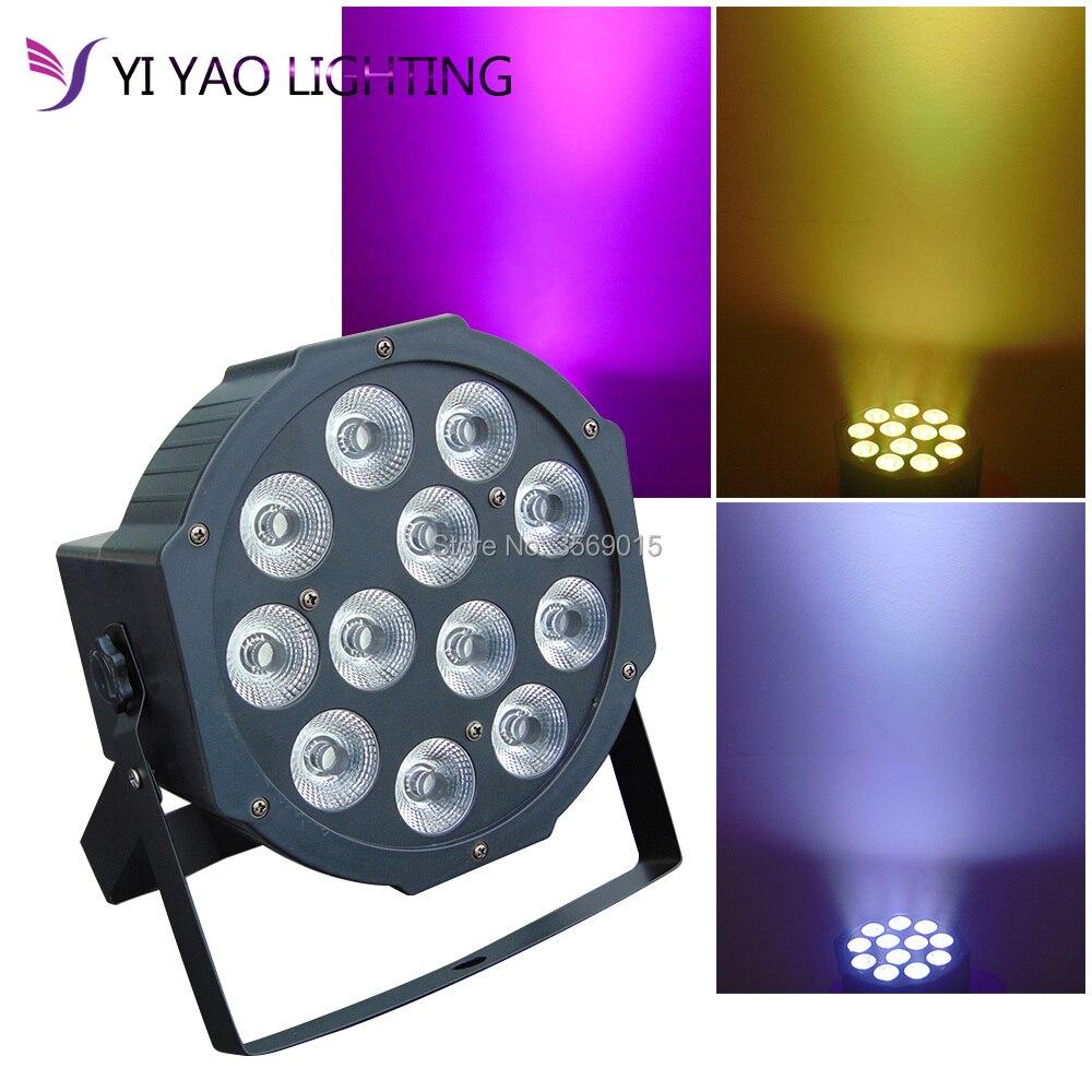 LED Up Lighting RGBW LED Par Lights 12W x 12 LED DMX 4 in 1 Par Can Stage Lighting Super Bright