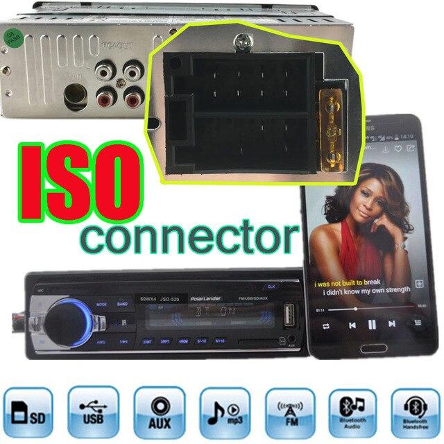 Europa Verzending Snelle Levering Autoradio Bluetooth Auto Audio Stereo Bluetooth Speler Telefoon AUX-IN MP3 FM USB 1 Din remote12V