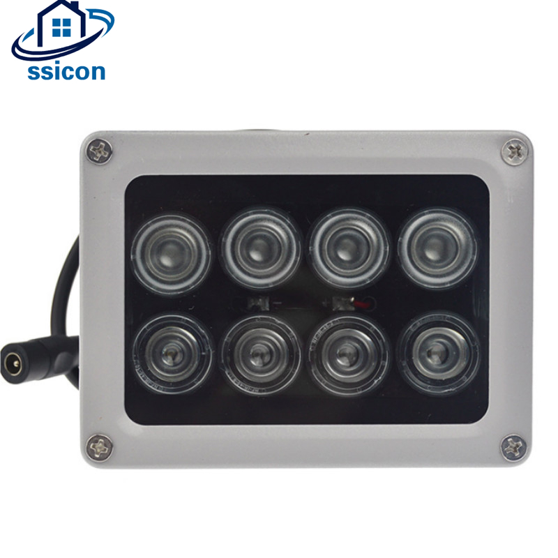 Waterproof Security CCTV Camera Leds Outdoor 60M IR Infrared Lamp Illuminator With 8pcs IR Array LEDs CCTV Fill Light azishn cctv 12pcs array leds ir illuminator infrared outdoor waterproof night vision cctv fill light for cctv security camera
