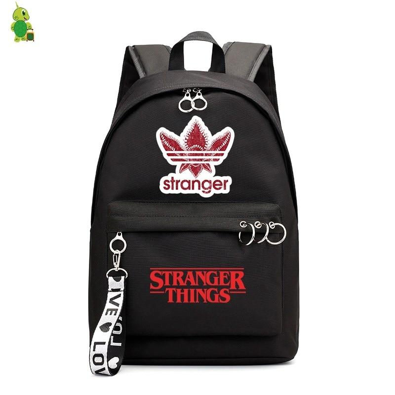 New Mochila Stranger Things Backpacks School Bags For Girls College Student Laptop Backpack Leisure Bagpack Travel Rucksack
