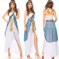 Sexy Cleopatra Costume Queen Goddess Cosplay Women Girls Egyptian Halloween Christmas Costume Ethnic Clothing