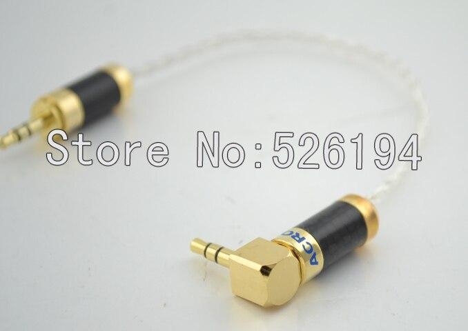 Бесплатная доставка Серебристый кабель под прямым углом 3,5 мм переменного тока 3 полюсный штекер папа папа дополнительный записи автомобил