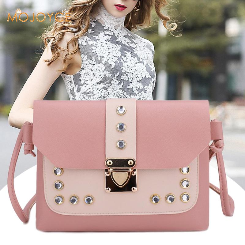 Fashion Women Messenger Bags Leather Rivet Handbags Sweet Girls Shoulder Large Capacity Tote Mini Crossbody Bolsas Feminina 2018-in Top-Handle Bags from Luggage & Bags on Aliexpress.com | Alibaba Group